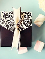 Wedding Decoration - 12pcs/Set - Black Damask and Ivory Candy Bags With Ribbon 8.8 x 7.5 x 3.5 cm Beter Gifts® Favor Boxes
