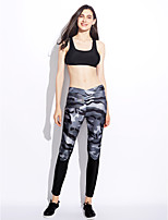 Women's Mid Rise strenchy Active Pants,Active Skinny Camouflage Color