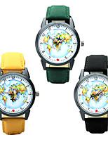 Муж. Модные часы Наручные часы Повседневные часы Китайский Кварцевый / PU Группа Повседневная World Map Pattern Элегантные часы Черный