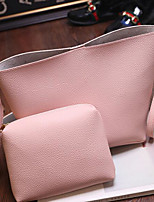 Women Bags All Seasons PU Polyester Shoulder Bag with for Casual Outdoor Black Blushing Pink
