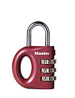MASTER LOCK 633MCND Zinc Alloy Password Padlock 3 Digit Password Portable Password Lock Laptop Lock Mini Padlock Dail Lock Password Lock