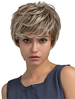 Fluffy Natural Partial Fringe Short Hair Human Hair Wigs For Woman