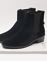 Women's Boots Comfort PU Spring Casual Black Blue 1in-1 3/4in
