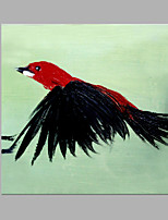 IARTS® Hand Painted Modern Abstract Flying Bird Black & Red Oil Painting On Canvas with Stretched Frame Wall Art For Home Decoration Ready To Hang