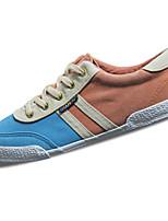 Herren Sneaker Komfort PU Frühling Herbst Schwarz Dunkelblau Blau Flach