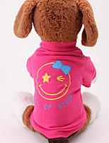 Cachorro Camiseta Roupas para Cães Casual Carta e Número Vermelho Verde