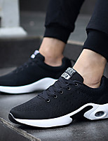 Men's Sneakers Light Soles Vulcanized Shoes Spring Fall Knit Tulle Casual Outdoor Low Heel Black Dark Blue Gray Under 1in