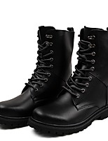 Men's Boots Fashion Boots Motorcycle Boots Combat Boots Real Leather Cowhide Nappa Leather Fall Winter Casual Outdoor Office & Career