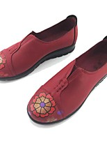 Damen Loafers & Slip-Ons Komfort Leuchtende Sohlen Mikrofaser Frühling Herbst Normal Walking Komfort Leuchtende Sohlen BlumeFlacher