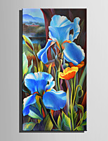 Mini Size E-HOME Oil painting Modern Blue Poppy Pure Hand Draw Frameless Decorative Painting