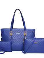 Women Bags All Seasons PU Bag Set with Zipper for Wedding Event/Party Casual Formal Office & Career Blue Gold Black Fuchsia