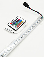 ZDM 50CM Waterproof IP68 7.5W 30X 5050 Rigid LED Light Bars With MINI IR 24 key controlle DC12V