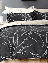 Plants 4 Piece Cotton Cotton 1pc Duvet Cover 2pcs Shams 1pc Flat Sheet