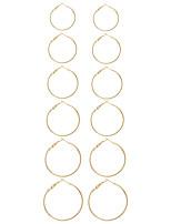 Damen Ohrstecker Kreolen Kreisförmiges Einzigartiges Design Modisch Euramerican Simple Style Metal Aleación Kreisform Geometrische Form