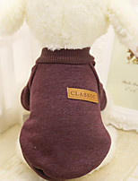 Dog Sweater Sweatshirt Dog Clothes Casual/Daily Solid Red Green Blue Blushing Pink Khaki