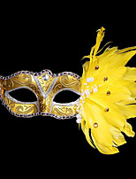Costume Party Mask/Christmas Mask/Halloween Feather Painted Mask/Birthday Party Mask