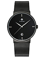 WWOOR Men's Sport Fashion Business Wristwatch Unique Creative Casual Watches Quartz Stainless Steel Hodinky Hours Relogio Masculino Feminino Clock