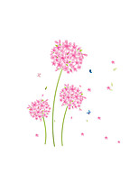 A fleurs/Botanique Bande dessinée Mode Stickers muraux Autocollants avion Autocollants muraux décoratifs,Vinyle MatérielDécoration