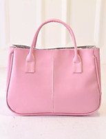Women Bags All Seasons PU Shoulder Bag with for Casual Outdoor White Blushing Pink Wine