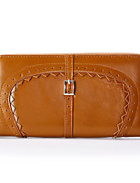 Women Clutch PU Polyester All Seasons Casual Outdoor Rectangle Without Zipper Brown Black