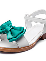 Girls' Sandals Comfort Leatherette Summer Fall Wedding Party & Evening Dress Comfort Bowknot Magic Tape Low Heel Blushing Pink White Flat