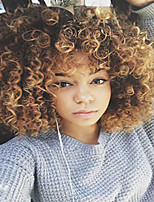 African Brown Wig Fashion Style High Temperature Wire Short Deep Curly Synthetic Hair Wig