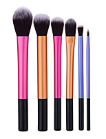 6pcs Makeup Brush Set Nylon Normal Aluminum Face