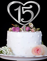 Love digital acrylic mirror silver wedding cake decorated birthday cake decorating birthday cake