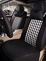 Car Seat Cushion Car Seat Cover Family Car Silk Fabric Materials Used In Four Seasons Of--Black And White Squares