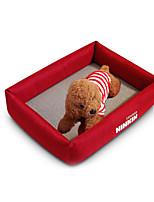 Собака Кровати Животные Коврики и подушки Однотонный Теплый Мягкий Красный Синий
