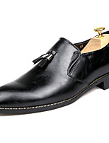 Для мужчин Туфли на шнуровке Удобная обувь Светодиодные подошвы Кожа Весна Осень Повседневные Для вечеринки / ужинаУдобная обувь