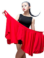 Latin Dance Bottoms Women's Performance Ice Silk 1 Piece Natural Hip Scarf