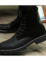 Men's Boots Combat Boots Winter Real Leather Casual Black Brown Under 1in