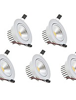 3W Dimmable COB LED Downlights Warm White Cool White LED AC 110V/220V 5 pcs