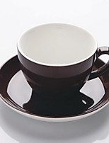 Tide Song Porcelain Glaze European Latte Cup Black Cup Large Capacity 300ml