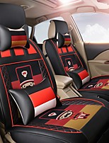 Cartoon Car Seat Cushion Leather Seat Cover Four Seasons General Flax Seat - German Black Empire Soldier