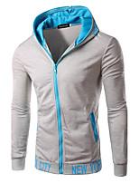 Sweat à capuche Homme Sports Décontracté / Quotidien Sortie Couleur Pleine Lettre Micro-élastique Coton Polyester Manches longues