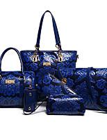 Mujer Conjuntos de Bolsa El material especial Todas las Temporadas Rectangular Cremallera Azul Piscina Negro Rojo Beige Morado