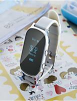 Детские Смарт-часы Цифровой Pезина Группа Белый Золотистый