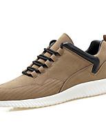Men's Sneakers Comfort Spring Fall Rubber Outdoor Lace-up Flat Heel Black Gray Khaki Under 1in