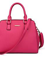 Women Shoulder Bag PU All Seasons Casual Outdoor Square Zipper Fuchsia Gray Blue