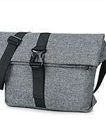 Men Shoulder Bag Canvas All Seasons Casual Outdoor Round Zipper Gray