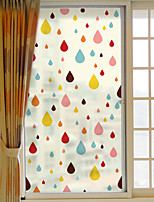 Window Film Window Decals Style Color Water Droplet Grind Arenaceous PVC Window Film- (60 x 116)cm