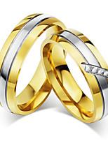 Paar Eheringe Kubikzirkonia Vintage Elegant Kubikzirkonia Titanstahl Runde Form Schmuck Für Hochzeit Party Verlobung Zeremonie