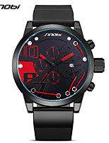 SINOBI Men's Sport Watch Fashion Watch Wrist watch Japanese Quartz Calendar Chronograph Shock Resistant Large Dial PU BandUnique Creative 9728G01