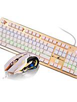 Hanstead ck axe vert usb set de souris mécanique avec câble de 160 cm