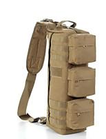 Unisex Shoulder Bag Nylon All Seasons Casual Outdoor Round Zipper Brown Black