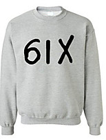 Men's Casual/Daily Sweatshirt Print Round Neck Micro-elastic Cotton Long Sleeve Spring