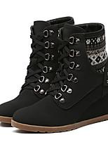 Women's Boots Comfort PU Spring Casual Comfort Brown Black 2in-2 3/4in