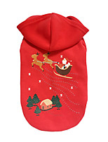 Dog Hoodie Dog Clothes Christmas Reindeer Ruby